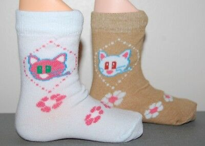 Baby Girls' Pack of 2 Ankle High Socks Cotton Rich Age 12-24 Months