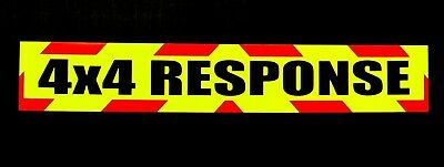 4x4 Response Fluorescent vehicle warning sign Magnetic and Self Adhesive