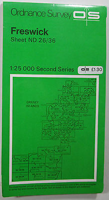 1978 old vintage OS Ordnance Survey Second Series 1:25000 Map Freswick ND 26/36