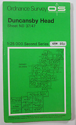 1978 old OS Ordnance Survey Second Series 1:25000 Map Duncansby Head ND 37/47