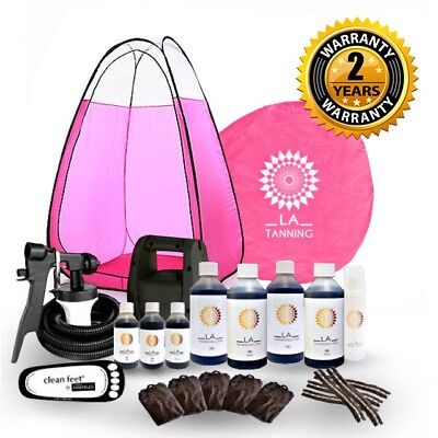 Hvlp Ts20 Spray Tanning Kit, Machine,pink Tent, Spray Tan& More! Should Be £289!