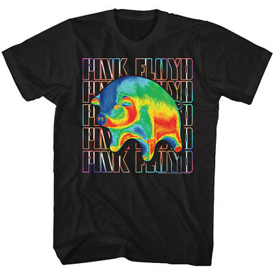Pink Floyd Big Multi Colored Pig Adult T Shirt Psychedelic Music