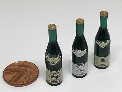 ADDITIONAL ITEMS P/&P FREE DOLLS HOUSE MINIATURES 3 BOTTLES RED WINE DD395