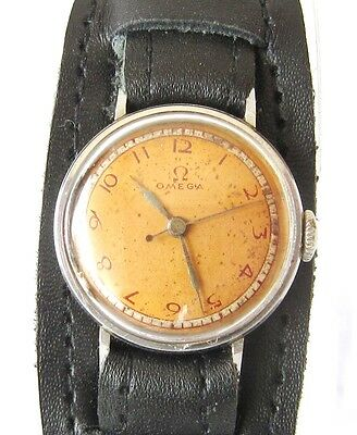 "Art Deco Rare""omega""all Stainless Steel Genuine Swiss Ladies Mechanical Watch#71"