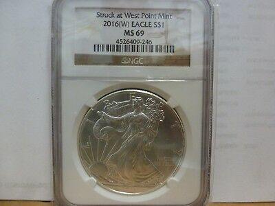 2016-(W) American Silver Eagle - NGC MS69
