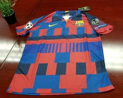 newest 94851 d334c NIKE FC BARCELONA Barca 20th Anniversary Jersey UCL PATCHES (Men's Medium)