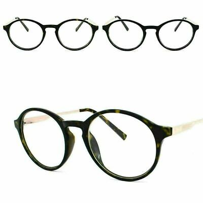 46384f9290f2 Oval Round Indie Dapper Clear Lens Glasses Hippie 80's Style Mens Womens  Geek