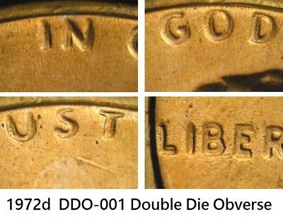 1972d Lincoln Cent Doubled Die Obverse DDO-001 Double BU UNC Red High Grades #1