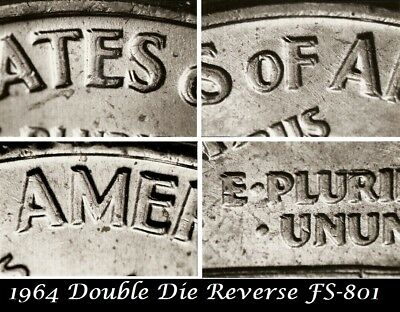 1964 Lincoln Cent Doubled Die Reverse FS-801 Double BU UNC Red High Grades #2