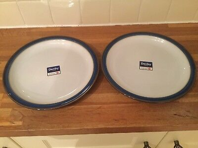 Denby Imperial Blue - Dinner Plates x 2