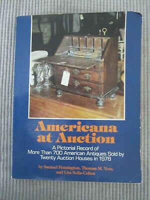 AMERICANA AT AUCTION Book by PENNINGTON / VOSS / SOLIS-COHEN ~ 1979
