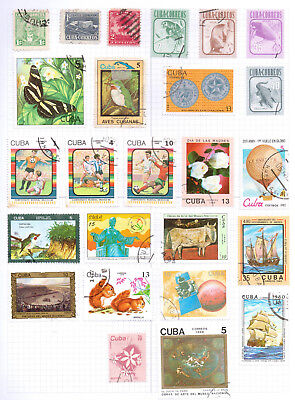 CARIBBEAN  Album page of Used Stamps (M617)