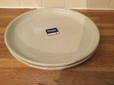 Denby - Linen Coupe- Dinner Plate  X 2 - 1St Quality