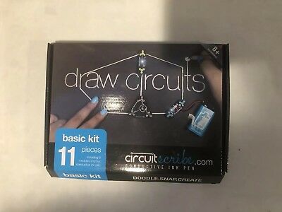 Circuit Scribe Basic Kit – Includes Conductive Silver Ink Pen,