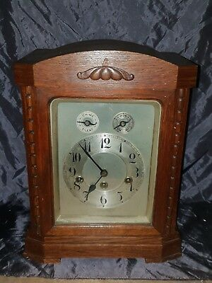 Antique German 3 holes Junghans table / bracket clock. westminster chiming !!