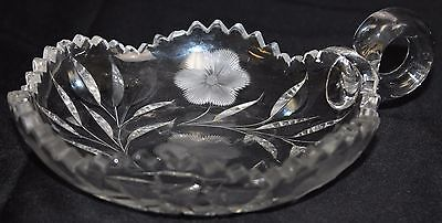VTG Mckee Innovations Nappy Dish Flower Pressed Glass American Brilliant Period