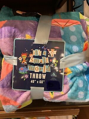 "2019 Disney Parks It's a Small World Blanket Throw 40"" x 60"""