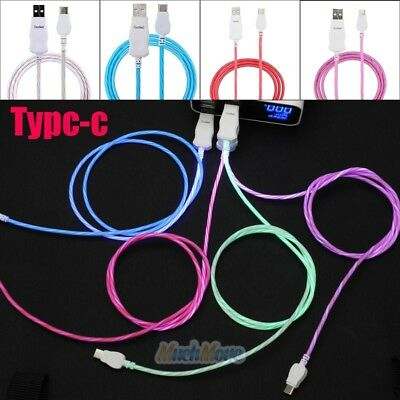 LED&Nylon Braided Rope USB-C Type-C 3.1 Data Sync Charger Charging Cable Cord US