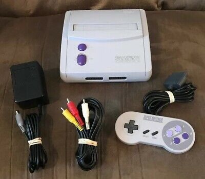Official Super Nintendo SNES JR Mini Console, Wires & Controller! ~ Works Great!