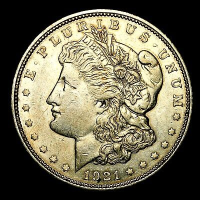 1921 D ~**ABOUT UNCIRCULATED AU**~ Silver Morgan Dollar Rare US Old Coin! #215