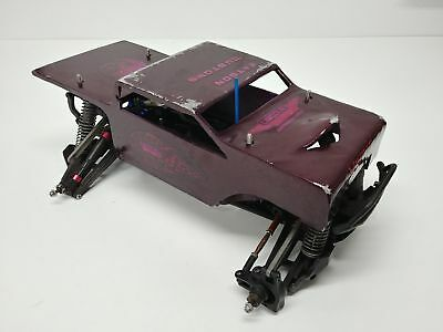 TRAXXAS STAMPEDE 4X4 1/10 Upgraded Roller Slider Chassis with AWESOME Metal  Body