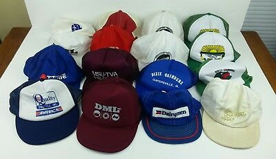 b0d63ec52aa Baseball Hat Lot of 16 Vintage Trucker Farmer Agriculture Southern Snapback  Ads