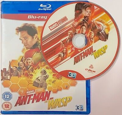 Ant Man and the Wasp 3D Ant man 2 Blu-ray Region Free Shipping Now
