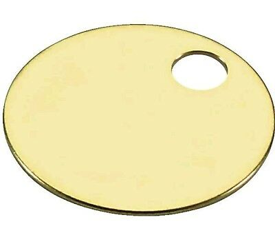 """Brass Tags 50 pc, 1-1/2"""" Engravable Tag"""