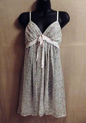 Vintage Jonquil by Diane Samandi Neiman Marcus GARDEN PARTY lingerie  negligee L a2588967a