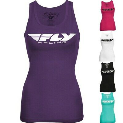 Fly Racing Corporate Motocross Off Road Womens Sleeveless Tank Tops