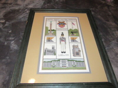 Amazing Framed West Point Class Of 1999 Needlepoint One Of A Kind Great Shape