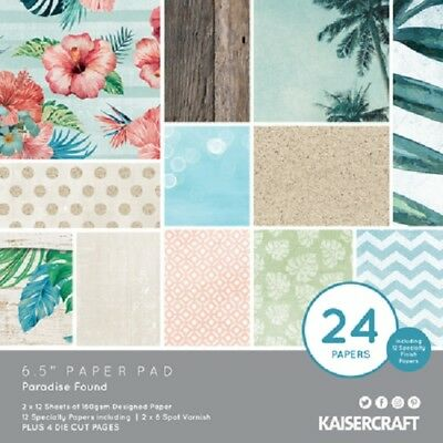 "Kaisercraft 'PARADISE FOUND' 6.5"" Paper Pad Island/Holiday/Beach KAISER PP1062"