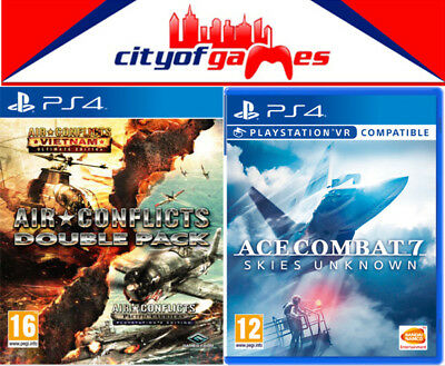 Ace Combat 7 Skies Unknown PS4 & Air Conflicts Double Pack PS4 Game Bundle