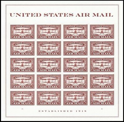 2018 US Stamp - United States Air Mail Red - 20 Forever Stamps - Scott #5282