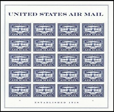 2018 US Stamp - United States Air Mail Blue - 20 Forever Stamps - Scott #5281