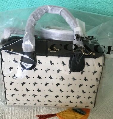 8eb7f21e2d91 New Coach F29806 Mini Bennett Satchel Handbag Purse With Butterfly Dot Print