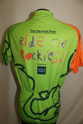 Verge Denver Post Colorado mens Medium Cycling Bike Jersey 2006 Ride the  rockies 54d6238ed