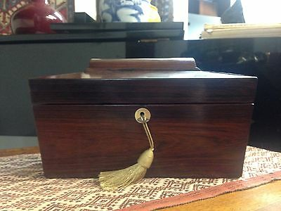 Late Georgian Or Early Victorian Rosewood Tea Caddy