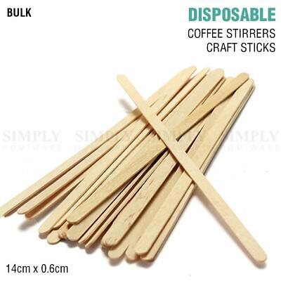 Coffee Stirrers Wooden Sticks Bulk Craft Paddle Pop Food Ice Cream Popsicle 14cm