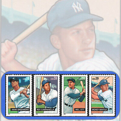 2006  BASEBALL SLUGGERS  Complete Set of 4  Different  MINT Stamps # 4080-4083