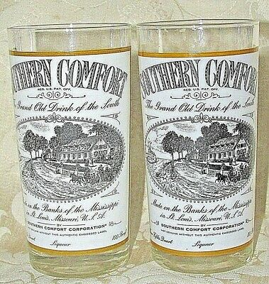 Southern Comfort 2x. Tall Glasses Made on the Banks of the Mississippi Scene