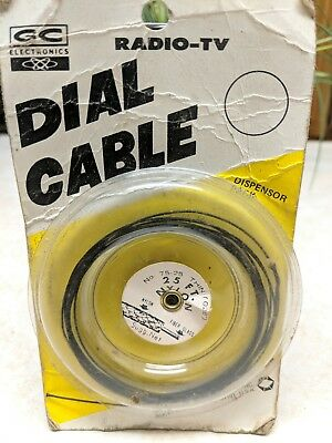 Vintage GC Electronics Radio TV Dial Cable Cord Partial Spool .028 Diameter
