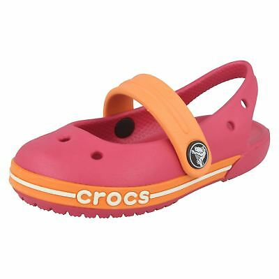 Girls Crocs Crocband Slingback Girls Casual Lightweight Beach Summer Sandals