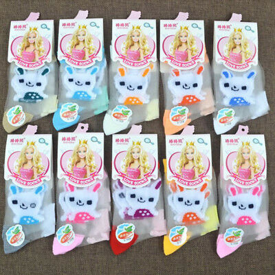 4 Pair Kids Girls Crystal Ankle Sock Comfy Sheer Transparent Lace Flowers Ruffle