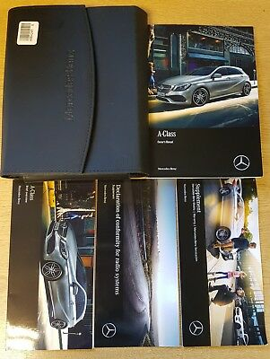 Genuine Mercedes A Class W176 Owners Manual Handbook 2012-2017 Wallet # K-104