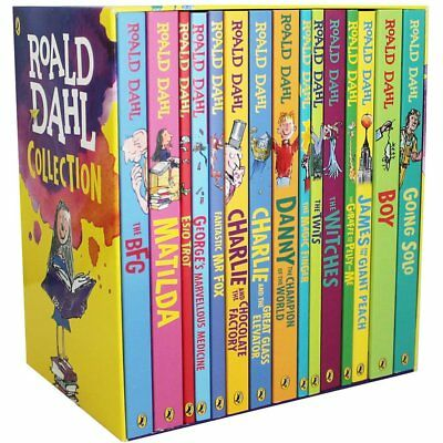 Roald Dahl Box Set Book Collection - 15 Books Childrens Books, Bed time, Reading