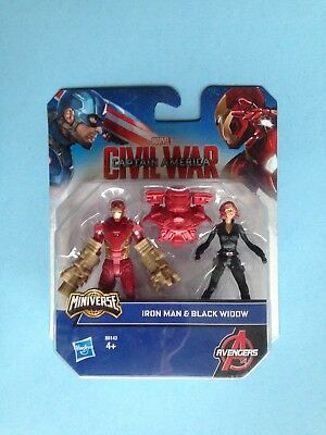 NEW Sealed Marvel Super Hero Mashers Iron Man and Black Widow 2 Action Figures