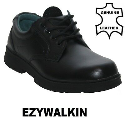 Mens Leather Comfort Lace Up Office Work Formal Black Casual Shoes Size UK 7-12