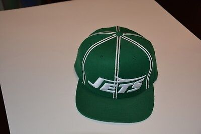 c813ff7bc59 NEW YORK JETS Mitchell and Ness Snapback Hat Custom Colorway ...