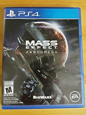 Mass Effect: Andromeda (Sony PlayStation 4, 2017 Video Game Ea Bioware frostbite